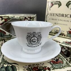 One Hendricks Gin Promotional Tea Cup Saucer Set A Most Unusual Gin Demitasse