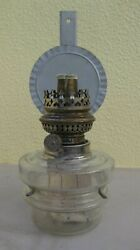 Antique Glass Oil Lamp With Wall Mount Kosmos Style Burner