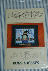 Lizzie Kate Cross Stitch Pattern Bugs and Kisses Witch Halloween $3.50