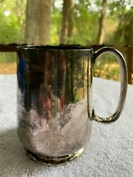 Antique British Silver Plate James Deakin And Sons Epns A233 Marked Mug Victorian