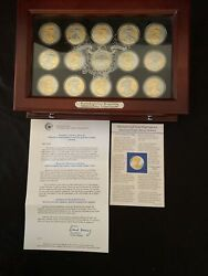 American Silver Eagle Pcs Platinum And Gold Highlights Display Case 1500 Retail