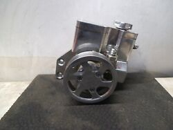 Concept One C1 Billet Aluminum Chevy Sb Power Steering Pump W/ Pulley And Hoses