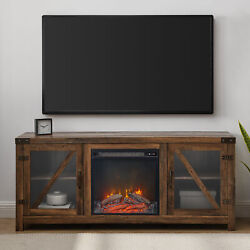 Manor Park Tv Stand Media Console Fireplace For Tvs Up To 65 Reclaimed Barnwood