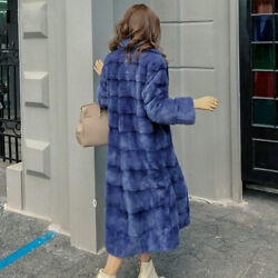 2019 Real Whole Mink Fur X-long Coat Factory Direct Sale Winter Slim Warm Female