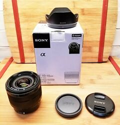 Sony - E Mount 10-18mm F4 Oss Wide-angle Zoom Lens In Original Box And Bandw Filter
