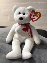 Rare Ty Beanie Baby - Valentino - Brown Nose. Tag Error. Indonesia Made
