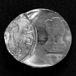 India 2019 Re.1/- Steel Coin Inverted Double Strike Error,unc