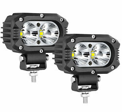 2x 4inch 60w Led Work Light Bar Spot Pods Offroad Driving Lamp 4wd Atv Truck Us