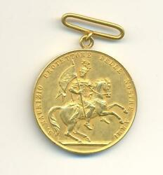 Italy Gold Medal Of Saint Maurice For Officers