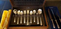 State House Sterling Inaugural 67 Piece Set W/american Walnut Case