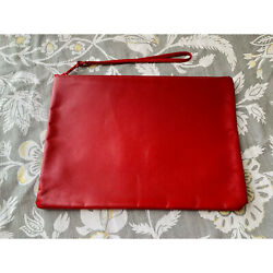Vintage Leather Red Clutch $10.00
