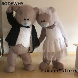 Teddy Bear Mascot Costume Suit Cosplay Adult Plush Carnival Wedding Party Lot