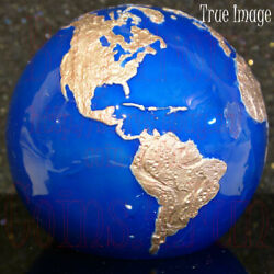 2021 Blue Marble Planet Earth 5 Pure Silver Rose Gold Plated Spherical Coin Mdm