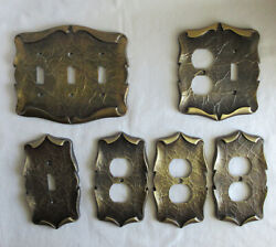 Vintage Amerock Carriage House Lot Of 6 Switch - Outlet Plates Assorted