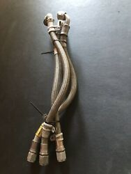 Lycoming T5313-3 3-wire Braided High Temp Plastic Hoses 90 Degree Angle