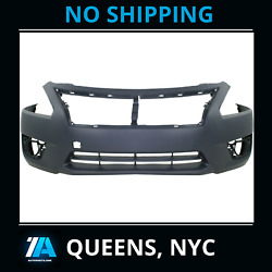 Ni1000285 New Front Bumper Cover Replace Prime Fits 2013 2015 Nissan Altima