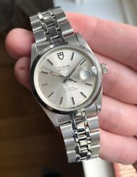 Tudor Date 74000n Automatic Silver Dial Quickset Date Steel Case Watch