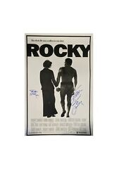 Sylvester Stallone And Talia Shire Dual Signed Rocky A1 Poster Rocky And Adrian Coa