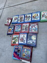 Lot Of 15 +2 Vintage 1980s Intellivision Games + Books And Original Boxes Overlays