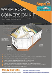 Special Offer Diy Supply Only Warm/tiled Roof Conversion Kit Lean-to 3m X 3m