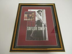 Taylor Swift Framed Autographed Signed Red Cd Cover And Poster Auto Free Shipping