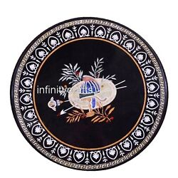 48 Marble Dining Table Top Inlay Work Floral Design Sofa Table For Home Decor