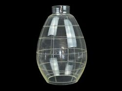 Replacement Large Lampshade Glass Chandelier 40and039 Art Deco / H 31