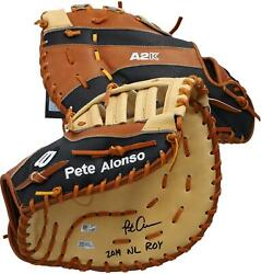 Pete Alonso Mets Signed Game Model 1st Basemanand039s Glove And 19 Nl Roy Insc - 19/20
