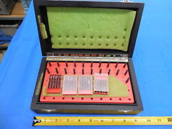 Mahr 51 Pc Pin Gage Set 0.10 Mm - 0.50 Mm With Vintage Style Wooden Box / Case