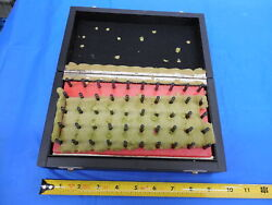 Mahr 50 Pc Pin Gage Set 0.51 Mm - 1.00 Mm With Vintage Style Wooden Box / Case
