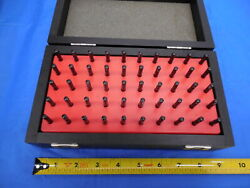Mahr 50 Pc Pin Gage Set 2.01 Mm - 2.50 Mm With Vintage Style Wooden Box / Case