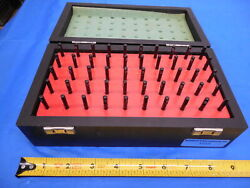Mahr 50 Pc Pin Gage Set 1.01 Mm - 1.50 Mm With Vintage Style Wooden Box / Case