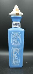 Vintage 1965 Jim Beam Man With Dog Light Blue Decanter With Topper Beam's Choice