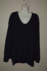 890 Sz S/m The Row Black Oversized V-neck Wide Arm Long Sleeve Sweater