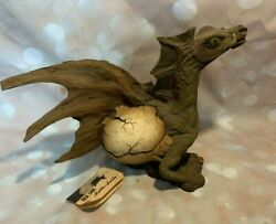 Rare Rick Cain Wood Sculpture Dragon Sprout Ii Limited Edition 052/5000 Vintage