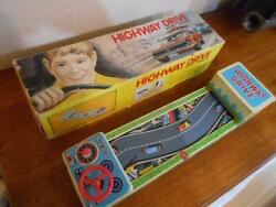 Nomura Toy Tinplate Battrey Powerd Highway Drive Vintage Toy Without Mini Car
