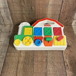 Vintage 1993 Fisher Price Barn Farm Animals 5826 Tractor Pop Up Baby Toy