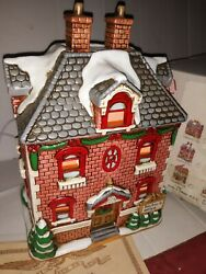 Signed Lefton 1992 Hand Painted Colonial Village Dr Doctor's Office Christmas