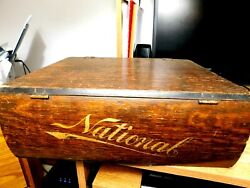 National Cash Register 1940and039s.hard Wood Reciept - Invoice Boxreal Nice One