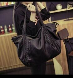 Tote Bag For Women Synthetic Leather Woven Shoulder Purse Handbag For ... $16.80