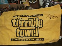 Maurkice Pouncey Pittsburgh Steelers Signed Autographed Terrible Towel