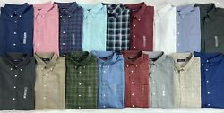 Menand039s Big And Tall Roundtree And Yorke Travel Smart Easy-care Button-front Shirt