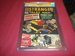Strange Tales 126 Marvel 1964 Silver Age 5.0/vg/fn Ss Cgc Comic Signed Stan Lee