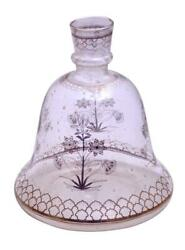 Museum Quality Islamic Mughal Light Wt. Glass Hookah Base With Gold Floral Work