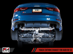 Awe Tuning Track Edition Exhaust 2015-2020 Audi S3 | Chrome Silver Tips