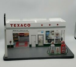 Vintage Danbury Mint Texaco Gas Station Display Authentic And Detailed Diorama