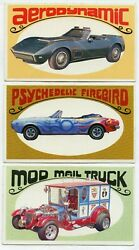 Way-out Wheels 1970 Topps 8 Card Lot George Barris Vintage - Jk344