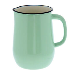 2.7-qt Green Enameled Pitcher. Retro Vintage Style 8 Tall Water Juice