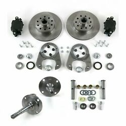 28-48 Ford I-beam Front Axle Disc Brake Conversion W/ Kingpin Spindle Kit 5x4.75