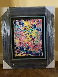 """Wyland Painting Original """"pollack Color Reef"""" Watercolor Free Shipping"""